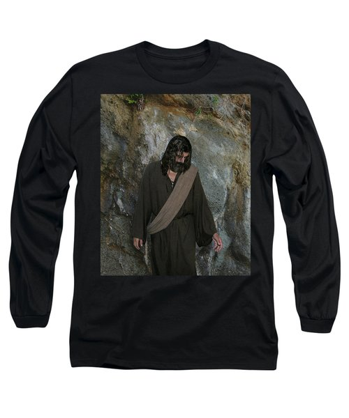 Jesus Christ- Rise And Walk With Me  Long Sleeve T-Shirt
