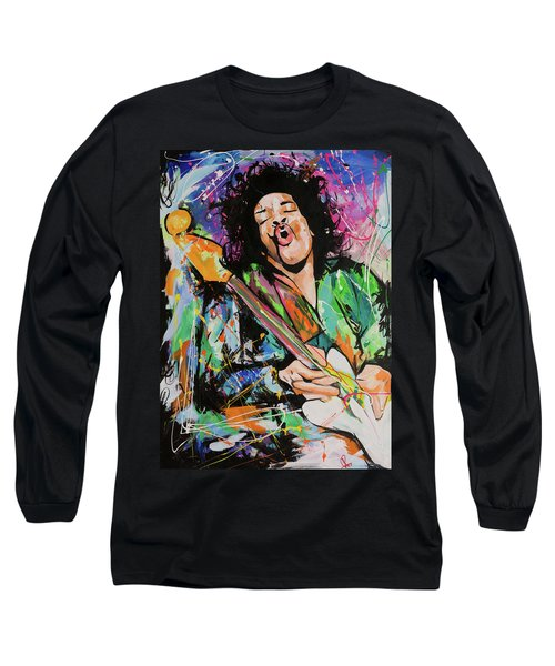 Jimi Hendrix Long Sleeve T-Shirt by Richard Day