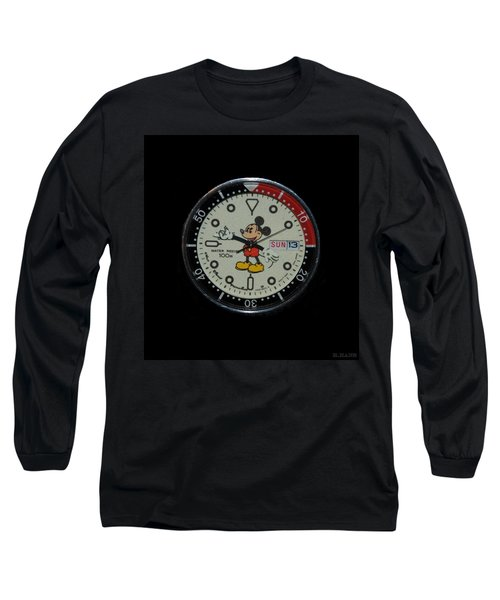 Mickey Mouse Watch Face Long Sleeve T-Shirt