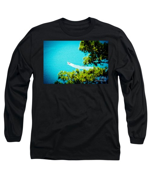 Pine Forest Over Sea Seascape Artmif.lv Long Sleeve T-Shirt