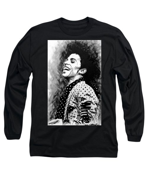 Long Sleeve T-Shirt featuring the painting Prince by Darryl Matthews