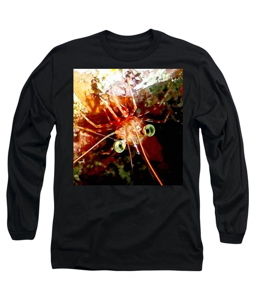 Red Night Shrimp Long Sleeve T-Shirt