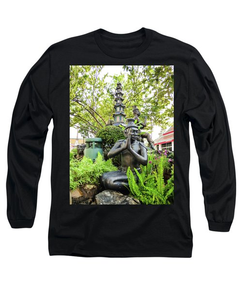 Reusi Dat Ton Statue At Famous Wat Pho Temple Long Sleeve T-Shirt
