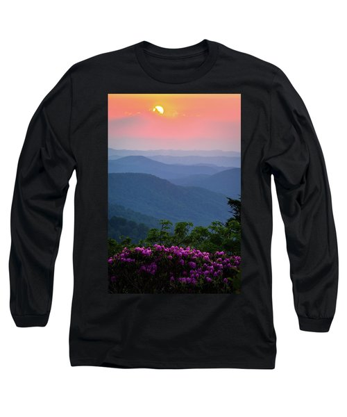 Roan Mountain Sunset Long Sleeve T-Shirt by Serge Skiba