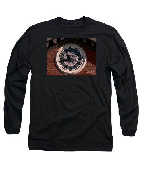 Long Sleeve T-Shirt featuring the photograph Sauer Company Clock by Melissa Messick