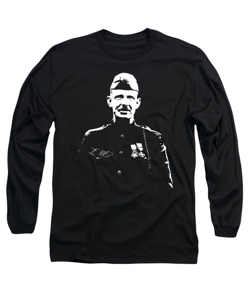 Long Sleeve T-Shirt featuring the mixed media Sergeant Alvin York by War Is Hell Store