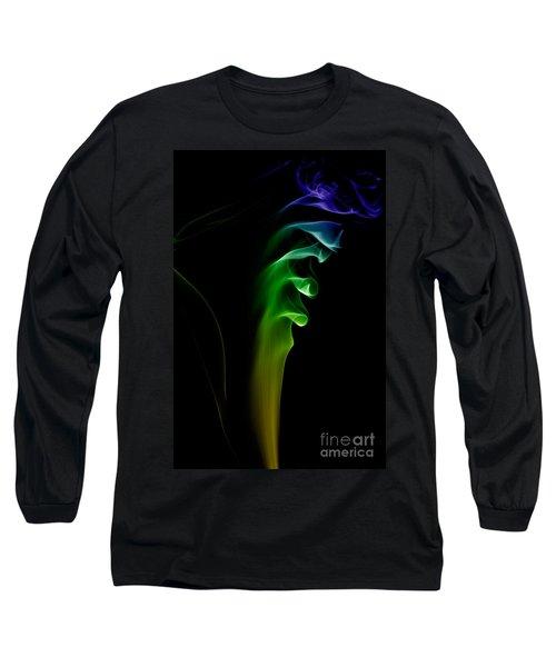 Long Sleeve T-Shirt featuring the photograph smoke XXVI by Joerg Lingnau