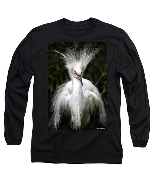 Snowy Egret Long Sleeve T-Shirt