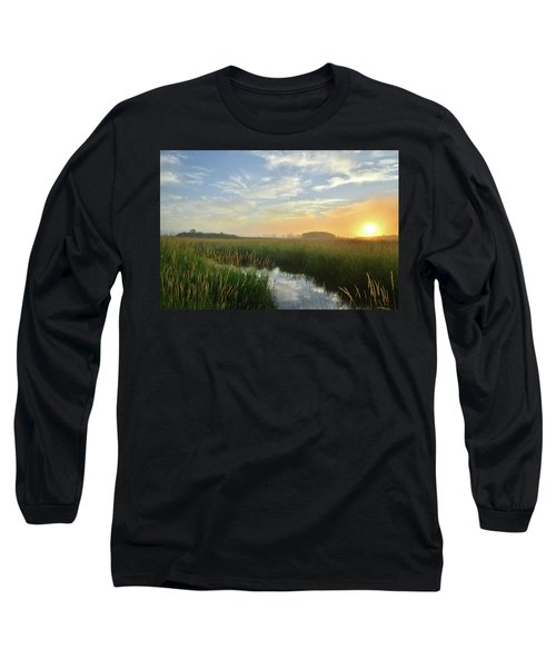 Sunrise At Glacial Park Long Sleeve T-Shirt