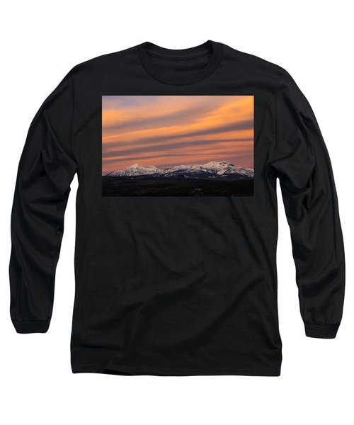 Sunset In Glacier National Park Long Sleeve T-Shirt