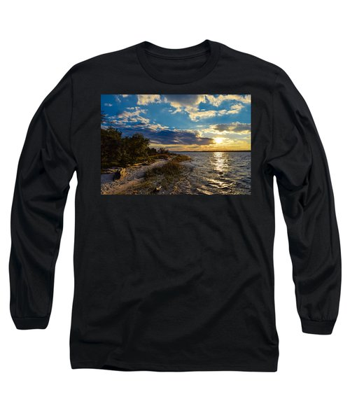 Sunset On The Cape Fear River Long Sleeve T-Shirt