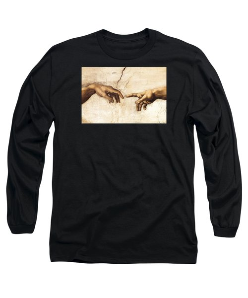 The Creation Of Adam Long Sleeve T-Shirt by Michelangelo