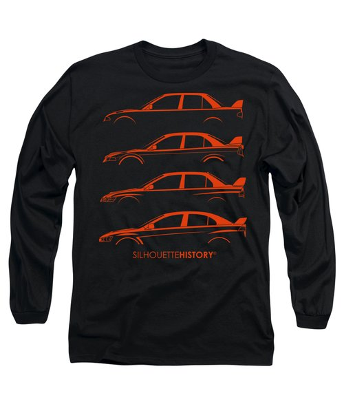 Triple Diamonds Silhouettehistory Long Sleeve T-Shirt