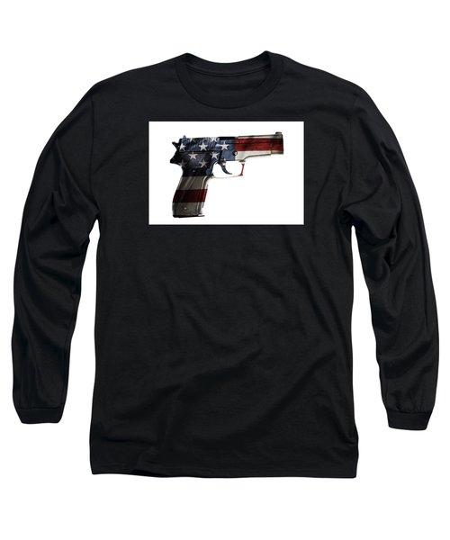 Usa Gun  Long Sleeve T-Shirt