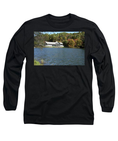 View Of Peaks Of Otter Lodge And Abbott Lake  In Autumn Long Sleeve T-Shirt