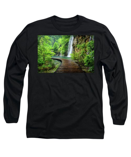 Walking Through Waterfalls - Plitvice Lakes National Park, Croatia Long Sleeve T-Shirt