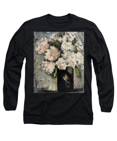 White Hydrangeas Long Sleeve T-Shirt