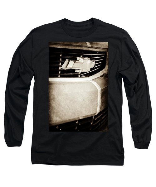 Long Sleeve T-Shirt featuring the photograph 2011 Chevrolet Camaro Grille Emblem -0321s by Jill Reger