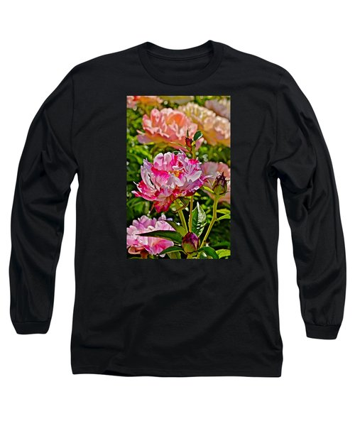 2015 Summer's Eve At The Garden Candy Stripe Peony Long Sleeve T-Shirt