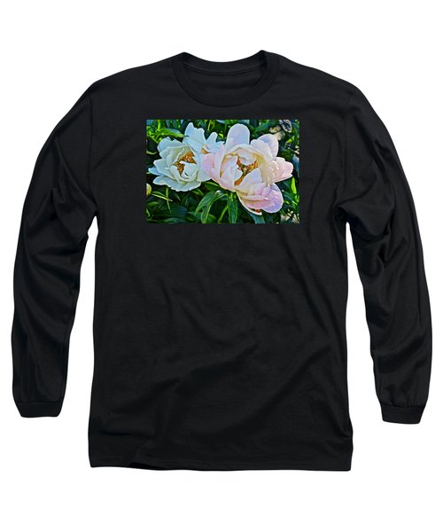 2015 Summer's Eve At The Garden White Peony Duo Long Sleeve T-Shirt