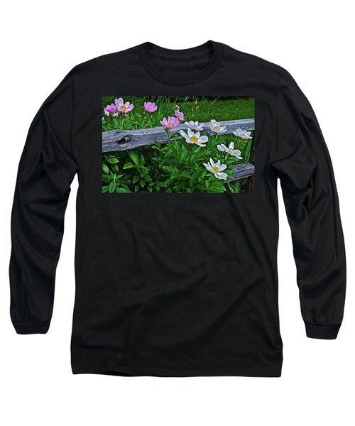 2015 Summer's Eve Neighborhood Garden Front Yard Peonies 2 Long Sleeve T-Shirt