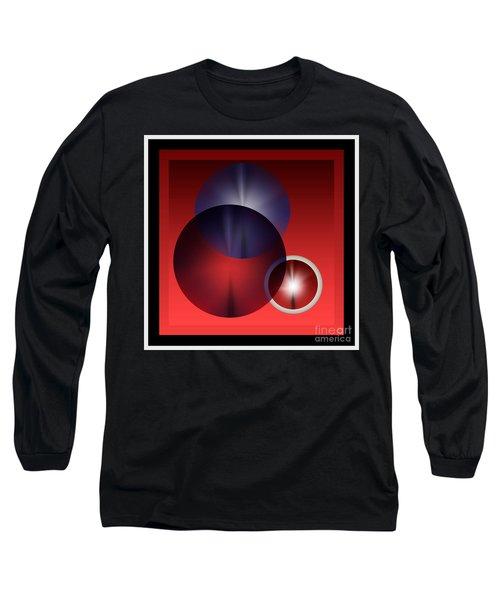 Long Sleeve T-Shirt featuring the digital art 2978 2017 by John Krakora