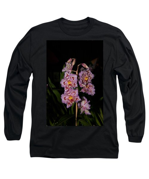 Cattleya Style Orchids Long Sleeve T-Shirt