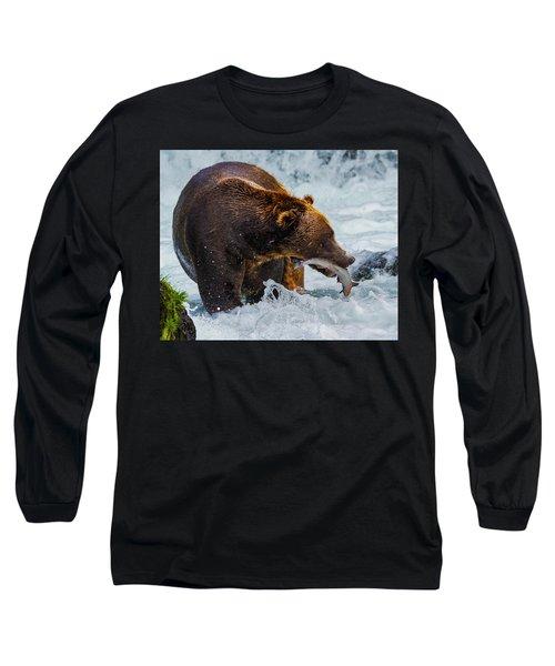 Alaska Brown Bear Long Sleeve T-Shirt
