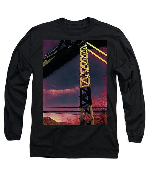Bridge At Guerneville Long Sleeve T-Shirt