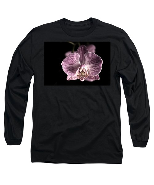 Close Up Shoot Of A Beautiful Orchid Blossom Long Sleeve T-Shirt