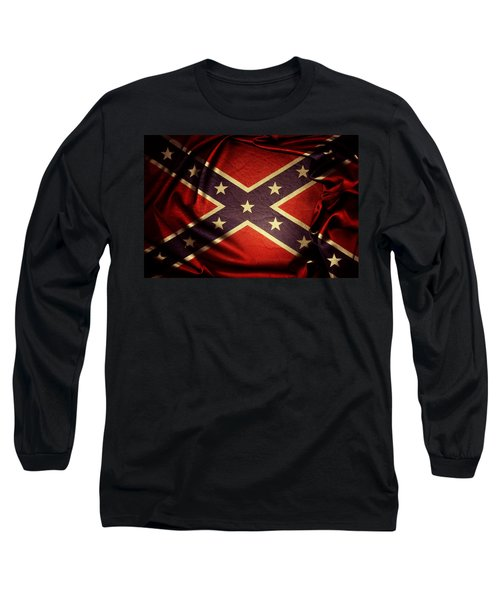 Confederate Flag Long Sleeve T-Shirt by Les Cunliffe