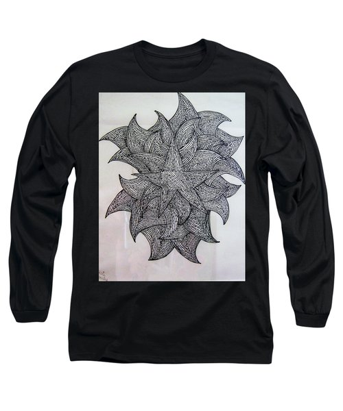 3 D Sketch Long Sleeve T-Shirt by Barbara Yearty