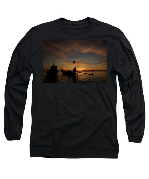 Sunrise On Koh Tao Island In Thailand Long Sleeve T-Shirt by Tamara Sushko