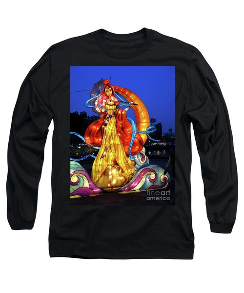 Long Sleeve T-Shirt featuring the photograph The 2017 Lantern Festival In Taiwan by Yali Shi