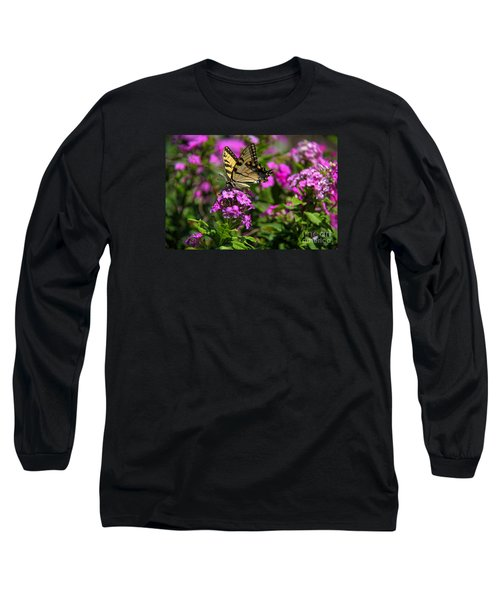 Tiger Swallowtail Long Sleeve T-Shirt by Yumi Johnson