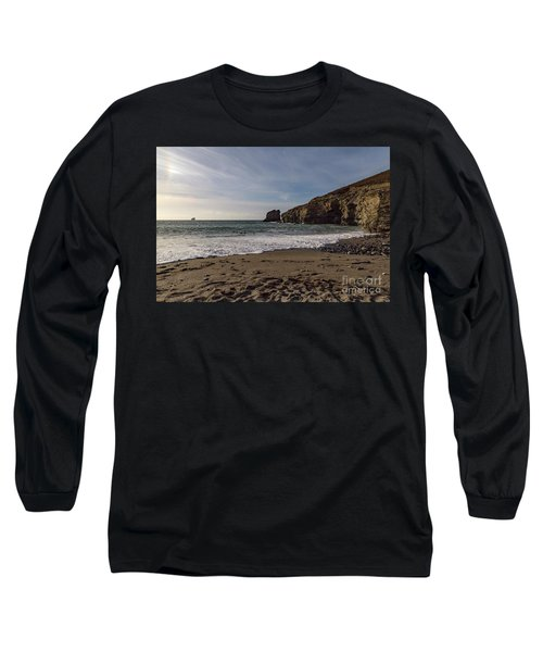 Trevellas Cove Cornwall Long Sleeve T-Shirt