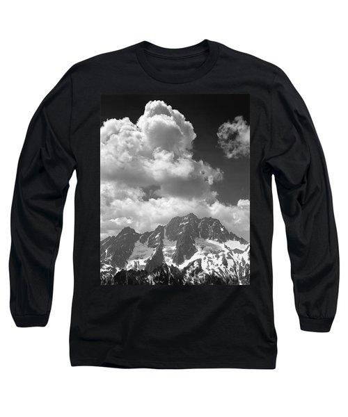 304638 Clouds Over Mt. Stuart Bw Long Sleeve T-Shirt