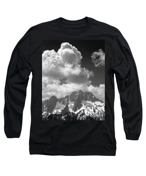 304638 Clouds Over Mt. Stuart Bw Long Sleeve T-Shirt