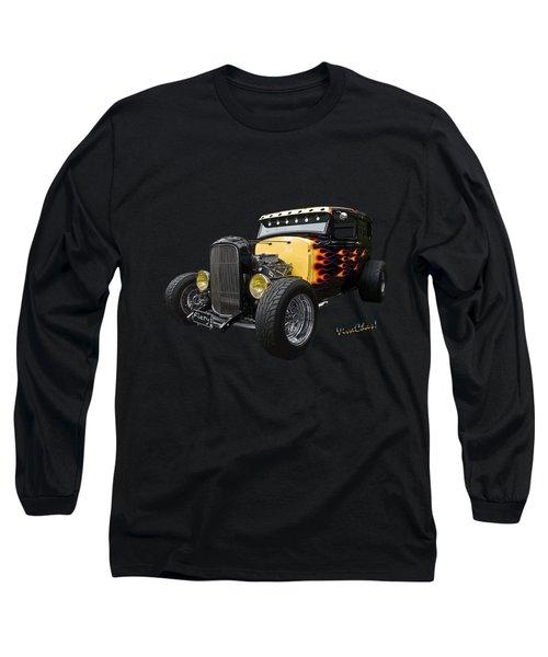31 Model A Ford Fiery Watercolour Long Sleeve T-Shirt