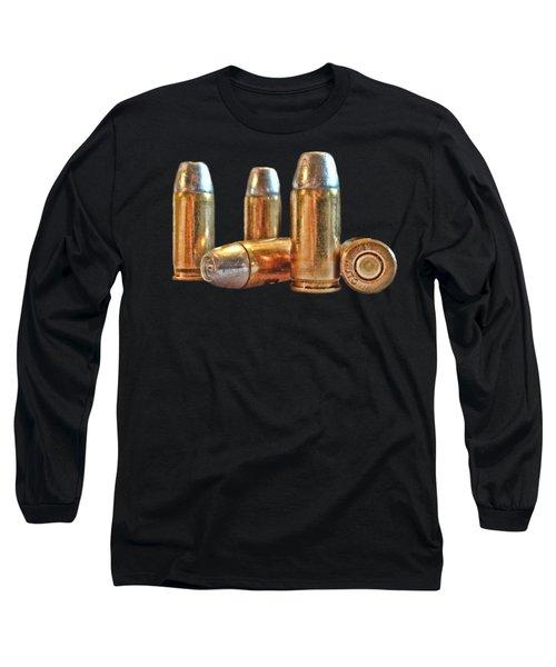 32 Caliber Bullet Print Long Sleeve T-Shirt