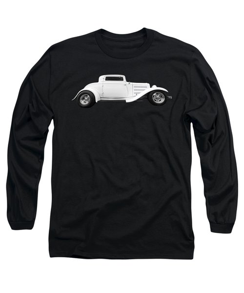 32 Ford Deuce Coupe In Black And White Long Sleeve T-Shirt