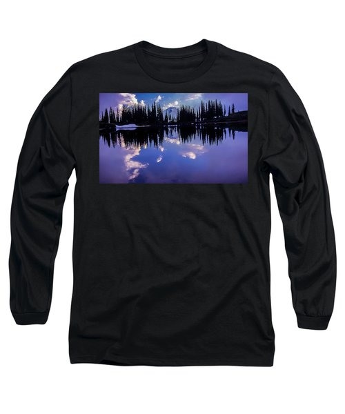 35mm Scan Of Image Lake And Glacier Peak Long Sleeve T-Shirt