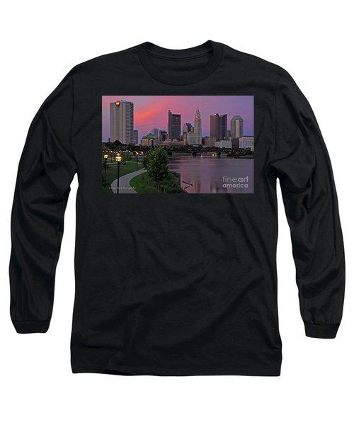 D2l37 Columbus Ohio Skyline Photo Long Sleeve T-Shirt