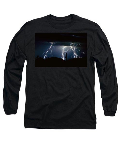 4 Lightning Bolts Fine Art Photography Print Long Sleeve T-Shirt