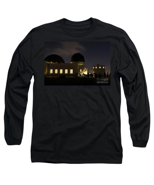 Night At Griffeth Observatory Long Sleeve T-Shirt