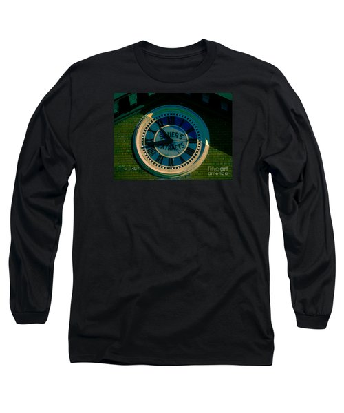 Long Sleeve T-Shirt featuring the photograph Sauer Clock by Melissa Messick