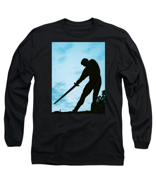 Long Sleeve T-Shirt featuring the photograph The Gladiator by Jake Hartz