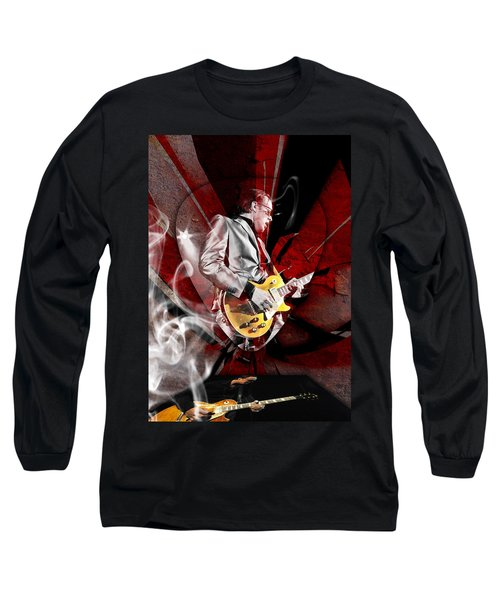 Joe Bonamassa Blues Guitarist Art Long Sleeve T-Shirt by Marvin Blaine