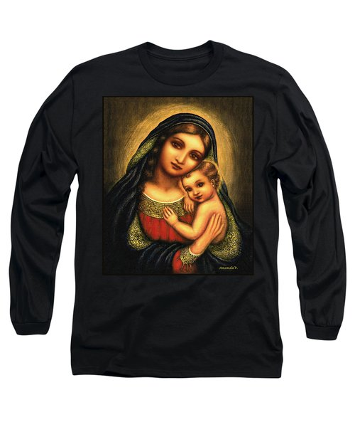 Oval Madonna Long Sleeve T-Shirt by Ananda Vdovic