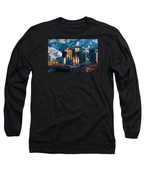 Salt Lake City Utah Usa Long Sleeve T-Shirt by Utah Images